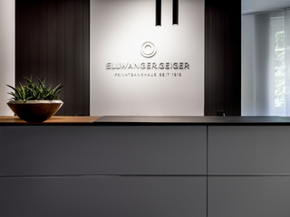 Excisting reception refurbished to fit new brand experience